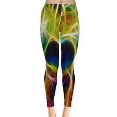 Skulls Multicolor Fractalius Colors Colorful Leggings