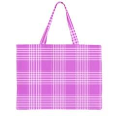 Seamless Tartan Pattern Large Tote Bag