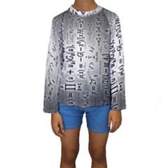 Science Formulas Kids  Long Sleeve Swimwear