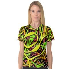 Snake bush Women s V-Neck Sport Mesh Tee