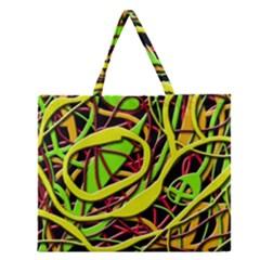 Snake bush Zipper Large Tote Bag