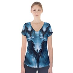 Rising Angel Fantasy Short Sleeve Front Detail Top
