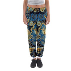 Retro Ethnic Background Pattern Vector Women s Jogger Sweatpants