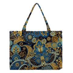 Retro Ethnic Background Pattern Vector Medium Tote Bag