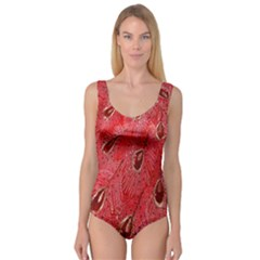 Red Peacock Floral Embroidered Long Qipao Traditional Chinese Cheongsam Mandarin Princess Tank Leotard