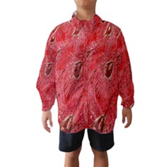 Red Peacock Floral Embroidered Long Qipao Traditional Chinese Cheongsam Mandarin Wind Breaker (Kids)