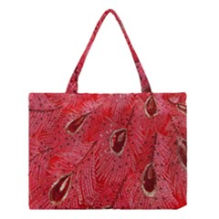 Red Peacock Floral Embroidered Long Qipao Traditional Chinese Cheongsam Mandarin Medium Tote Bag
