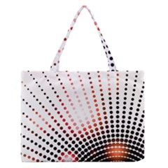 Radial Dotted Lights Medium Zipper Tote Bag