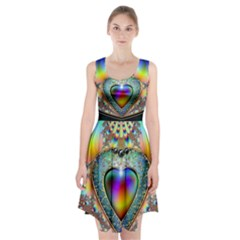 Rainbow Fractal Racerback Midi Dress