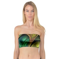 Psytrance Abstract Colored Pattern Feather Bandeau Top
