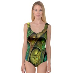 Psytrance Abstract Colored Pattern Feather Princess Tank Leotard