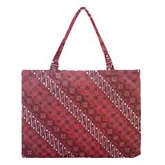 Red Batik Background Vector Medium Tote Bag