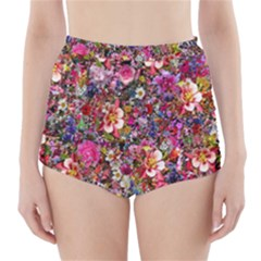 Psychedelic Flower High-Waisted Bikini Bottoms