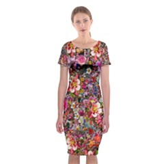 Psychedelic Flower Classic Short Sleeve Midi Dress