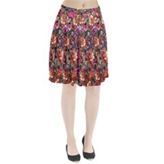 Psychedelic Flower Pleated Skirt