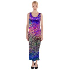 Poetic Cosmos Of The Breath Fitted Maxi Dress