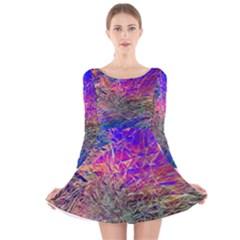 Poetic Cosmos Of The Breath Long Sleeve Velvet Skater Dress