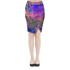 Poetic Cosmos Of The Breath Midi Wrap Pencil Skirt