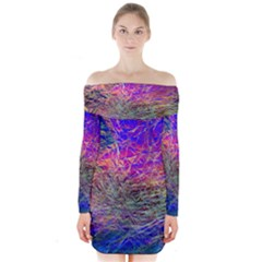 Poetic Cosmos Of The Breath Long Sleeve Off Shoulder Dress