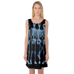 Adventure Time Cover Sleeveless Satin Nightdress