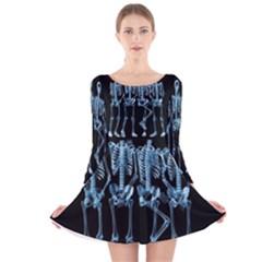 Adventure Time Cover Long Sleeve Velvet Skater Dress