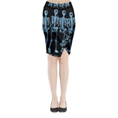 Adventure Time Cover Midi Wrap Pencil Skirt