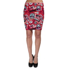 Agghh Pattern Bodycon Skirt