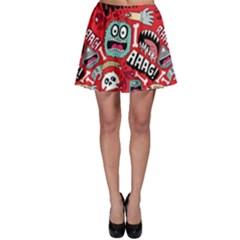Agghh Pattern Skater Skirt