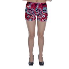 Agghh Pattern Skinny Shorts