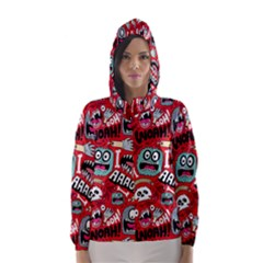 Agghh Pattern Hooded Wind Breaker (Women)
