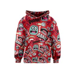 Agghh Pattern Kids  Pullover Hoodie
