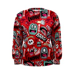 Agghh Pattern Women s Sweatshirt