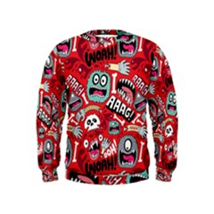 Agghh Pattern Kids  Sweatshirt