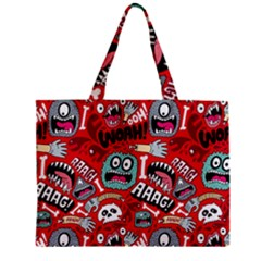 Agghh Pattern Zipper Mini Tote Bag