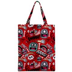 Agghh Pattern Zipper Classic Tote Bag