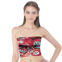 Agghh Pattern Tube Top