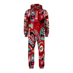 Agghh Pattern Hooded Jumpsuit (Kids)