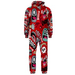 Agghh Pattern Hooded Jumpsuit (Men)