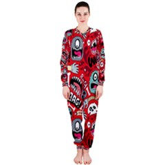Agghh Pattern OnePiece Jumpsuit (Ladies)
