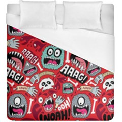 Agghh Pattern Duvet Cover (King Size)