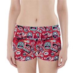 Agghh Pattern Boyleg Bikini Wrap Bottoms