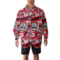 Agghh Pattern Wind Breaker (Kids)