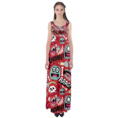 Agghh Pattern Empire Waist Maxi Dress