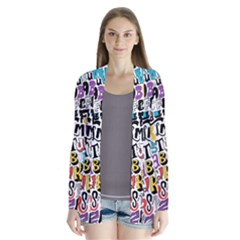 Alpha Pattern Drape Collar Cardigan