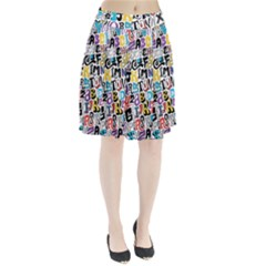 Alpha Pattern Pleated Skirt