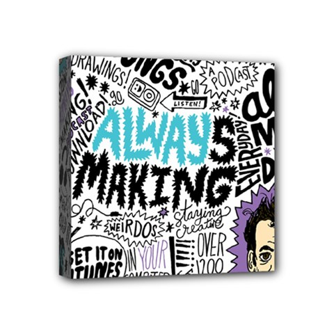 Always Making Pattern Mini Canvas 4  x 4