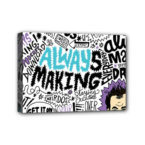 Always Making Pattern Mini Canvas 7  X 5
