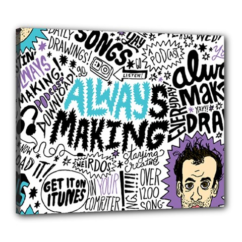 Always Making Pattern Canvas 24  x 20