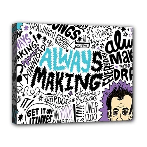 Always Making Pattern Deluxe Canvas 20  X 16