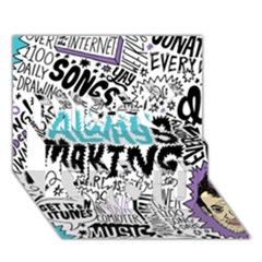 Always Making Pattern Miss You 3D Greeting Card (7x5)
